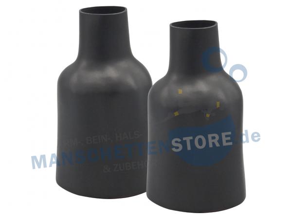 1 Paar Latex Armmanschetten Flaschenform Größe L - langer Beschnitt