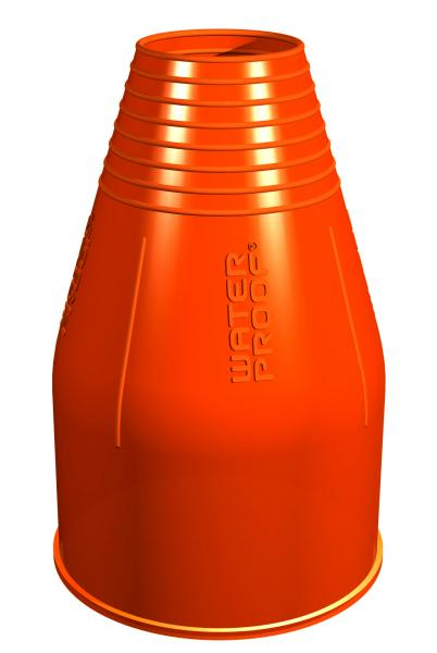 1 Paar Silikon Armmanschetten Orange - Standard