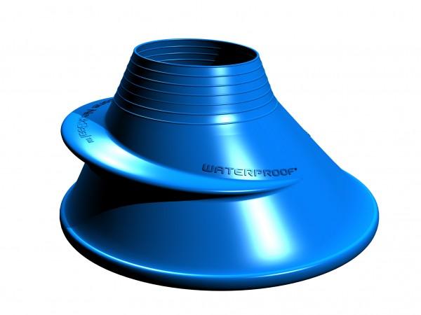 Silikon Halsmanschette Blau - Standard