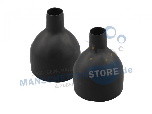 1 Paar Latex Beinmanschetten Flaschenform 42cm Größe M