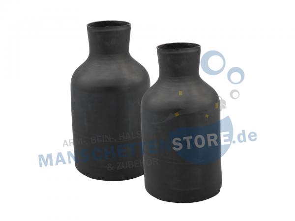 1 Paar Latex Armmanschetten Flaschenform extralang Größe L
