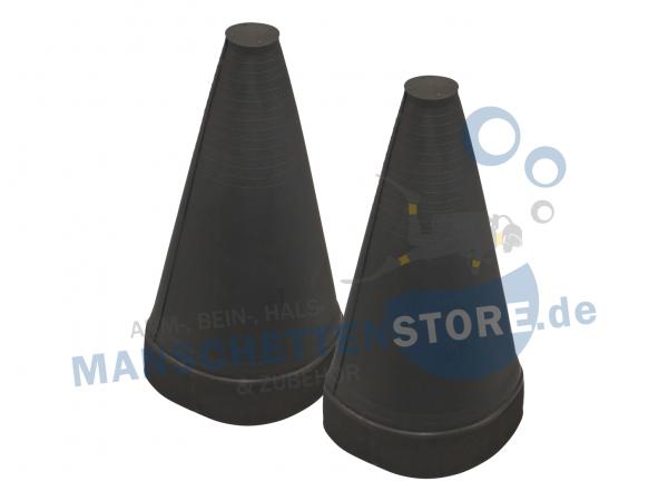 1 Paar Silikon Armmanschette Schwarz - außen verklebbar