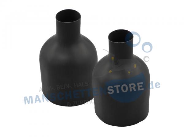 1 Paar Latex Beinmanschetten Flaschenform 36cm Größe M